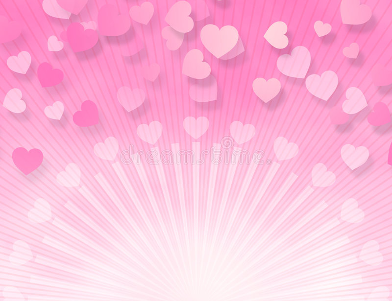 Candy Pink Hearts vector illustration