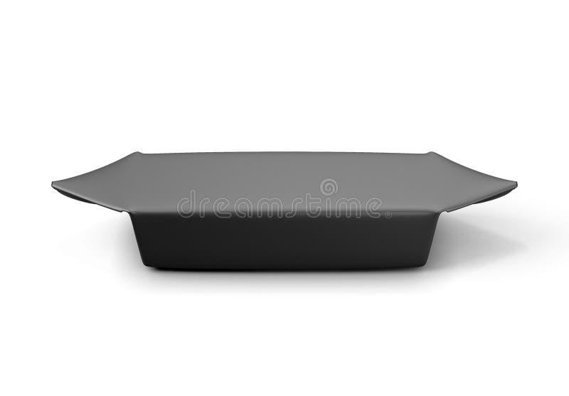 Candy in primo piano d'imballaggio nero illustrazione vettoriale