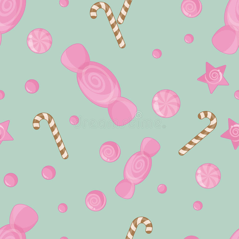 Candy seamless pattern background. For design wrapping paper, scrap booking, textiles, sites royalty free illustration
