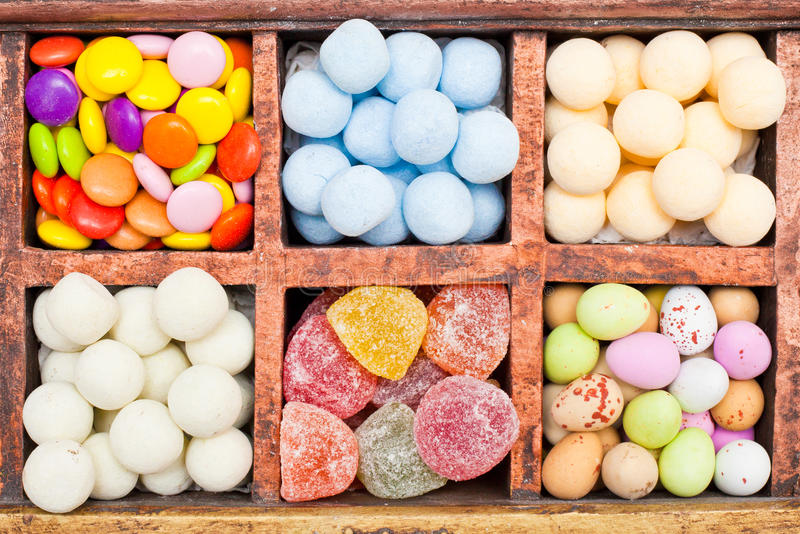 Candy selection royalty free stock image