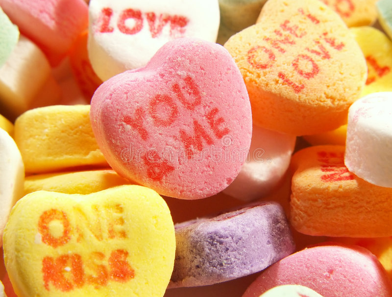 candy serce obraz stock