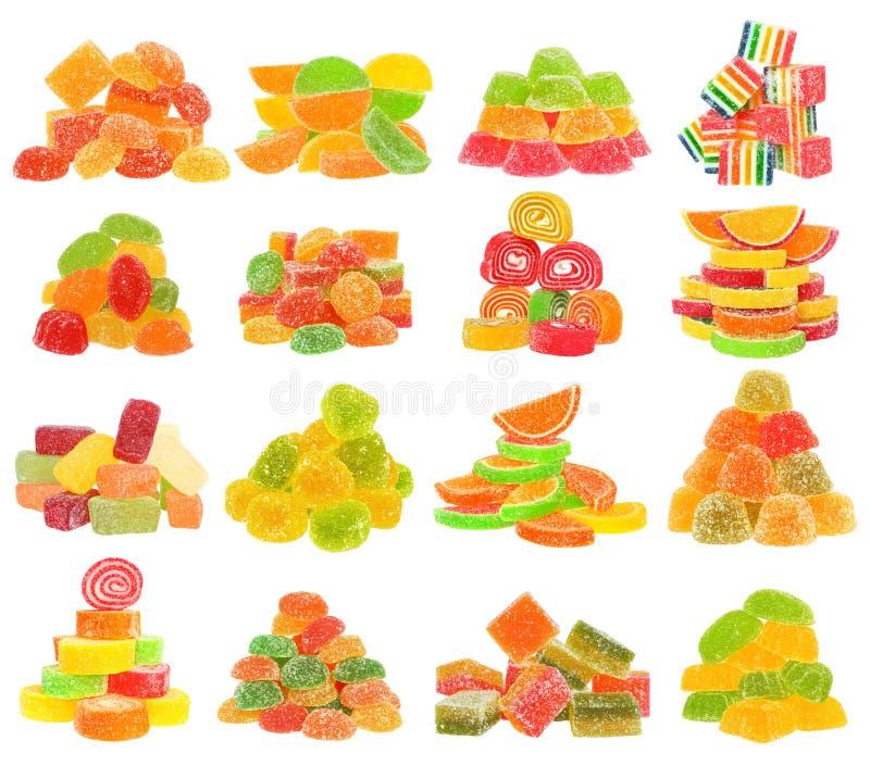 Candy set isolated. On white background royalty free stock photo