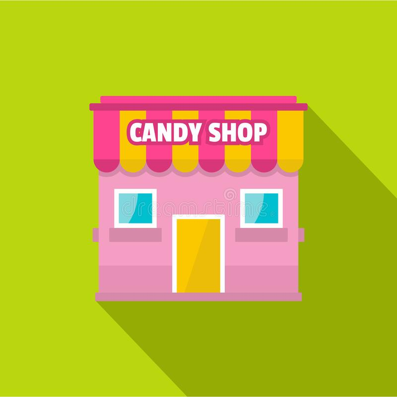 Candy shop icon, flat style. Candy shop icon. Flat illustration of candy shop vector icon for web vector illustration
