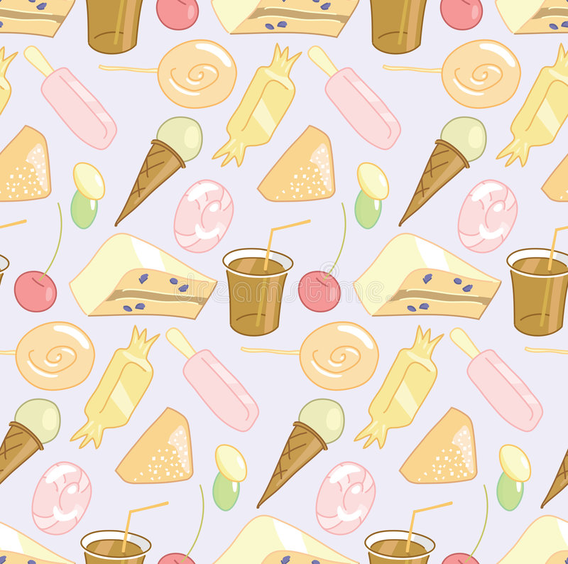 Candy shop seamless pattern stock photos
