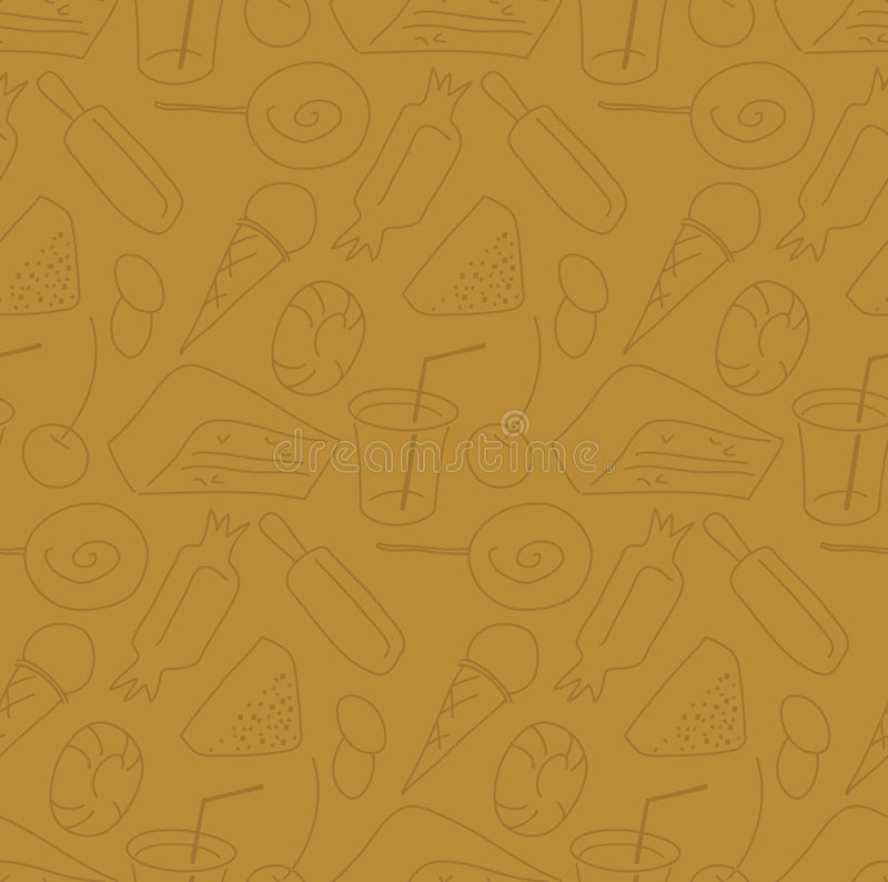 Candy shop seamless pattern royalty free stock images