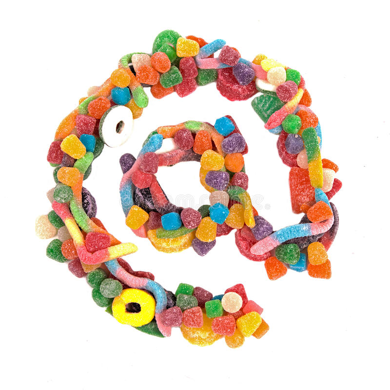 Candy At Sign royalty free stock photography