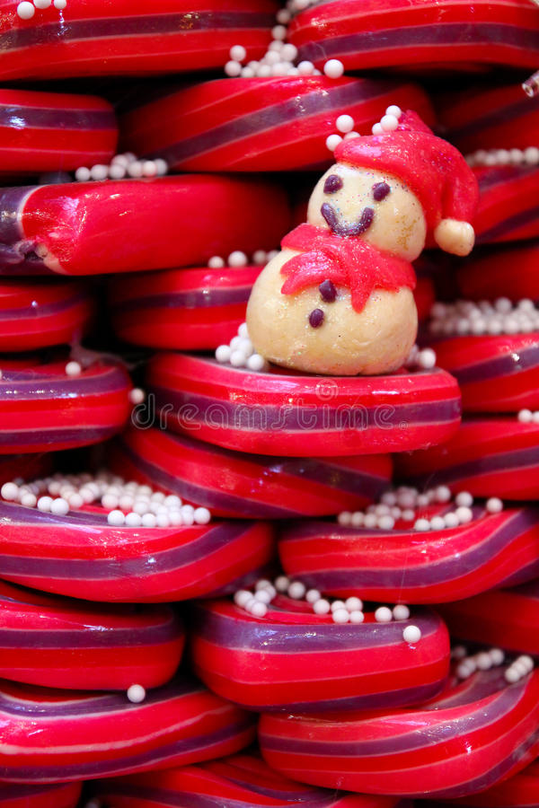 Download Candy snowman stock image. Image of christmas, greeting - 26999257