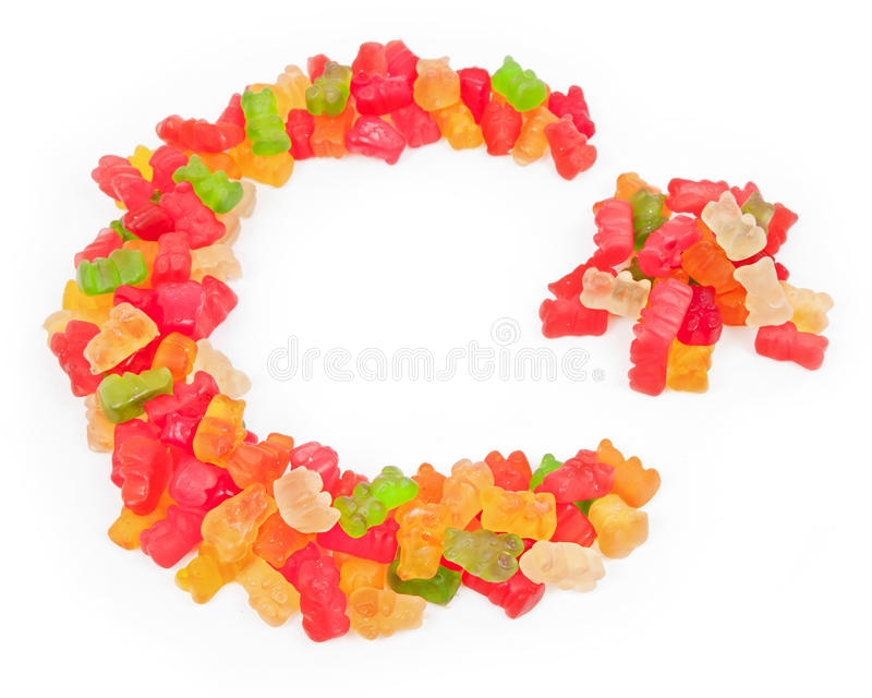 Candy Star and Crescent stock images