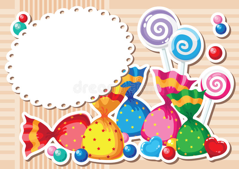 Download Candy sticker background stock vector. Image of christmas - 26133064