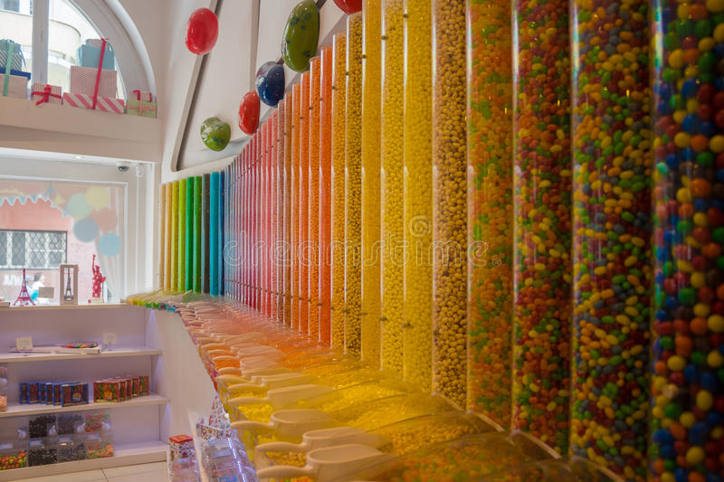 Candy store colors stock images