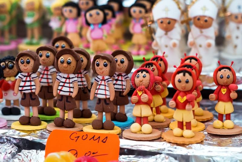 Candy sweets alfeniques chavo del ocho of the Day of the Dead celebration of Mexico stock photography