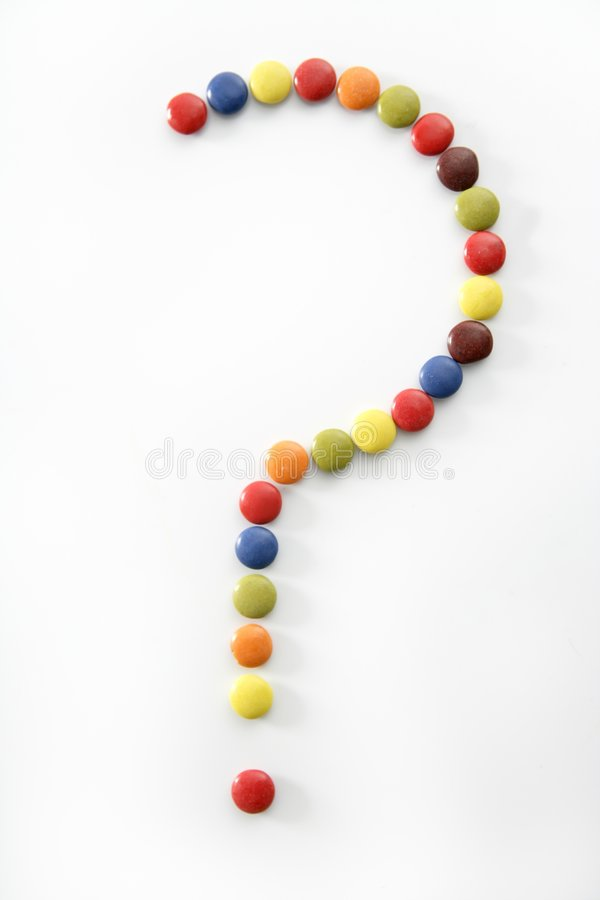 Download Candy Sweets Question Mark Isolated Over White Stock Photo - Image: 7904354