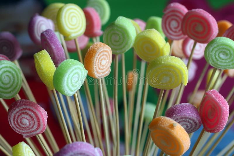 candy t?a kolorowe fotografia stock