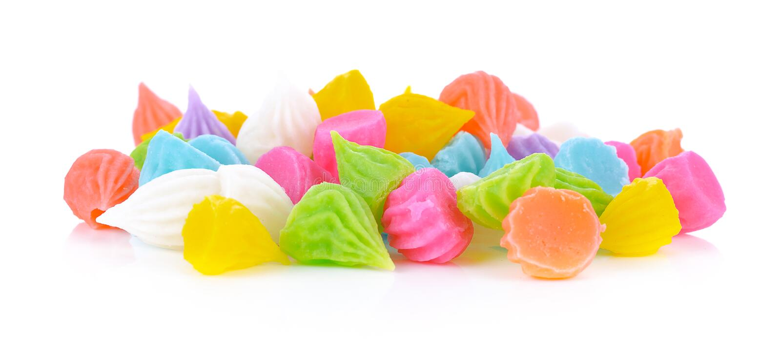 Candy Thailand Aalaw colorful in white background. Candy Thailand Aalaw colorful natural fresh colors isolated on a white  background stock photo