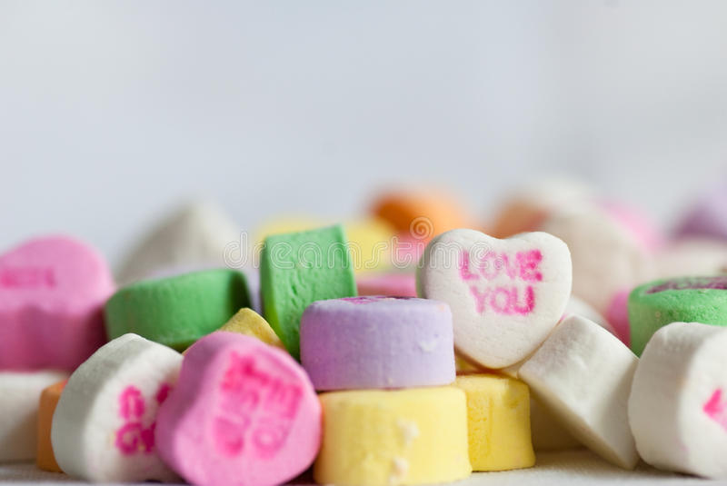 Download Candy Valentine Conversation Hearts Love Stock Photo - Image: 17232978