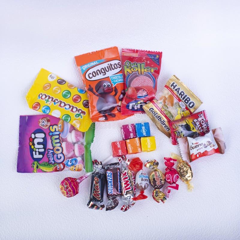 Candy& x27 ; variété espagnole de s photographie stock libre de droits