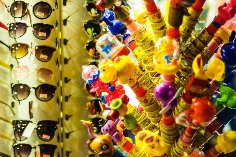 Candy variopinto in una notte di estate luminosa - Turchia fotografie stock
