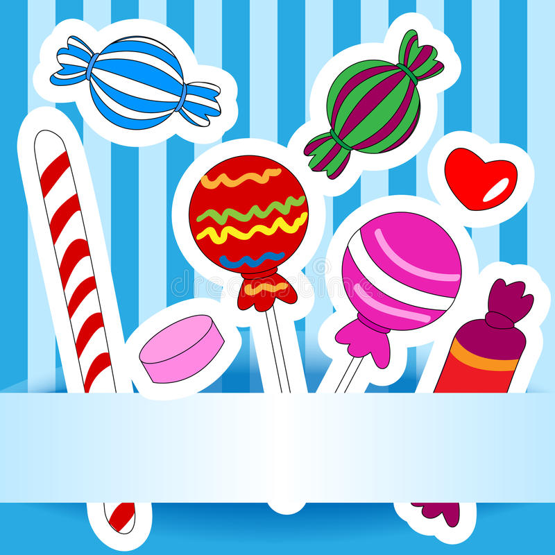 Download Candy Wish Or Invitation Card Stock Vector - Image: 25389858