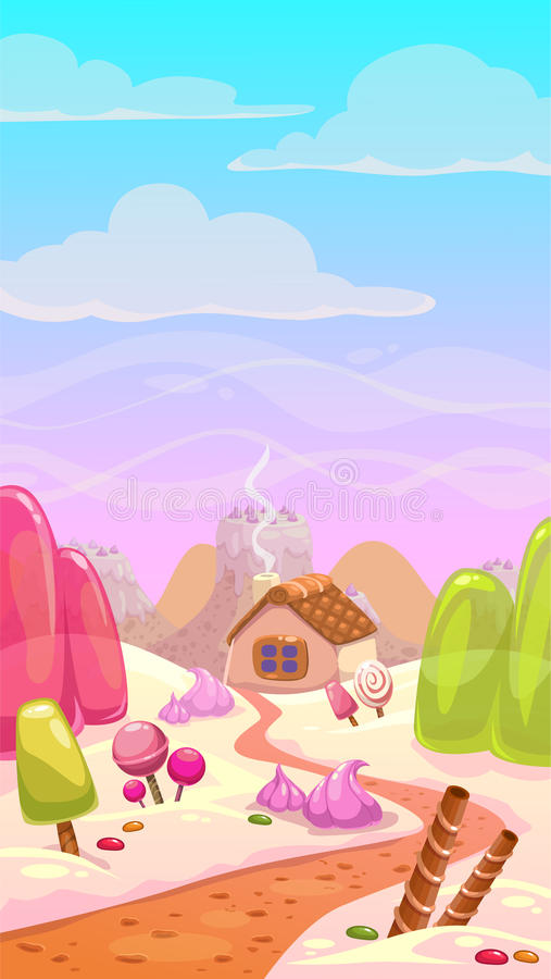 Candy world illustration stock illustration