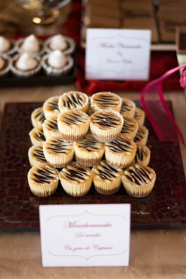 Candybar med chokladkakan royaltyfria foton