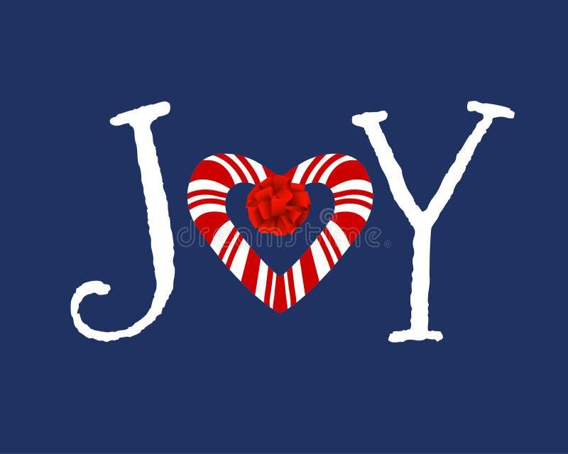 Candycane Heart In Word Joy Stock Vector