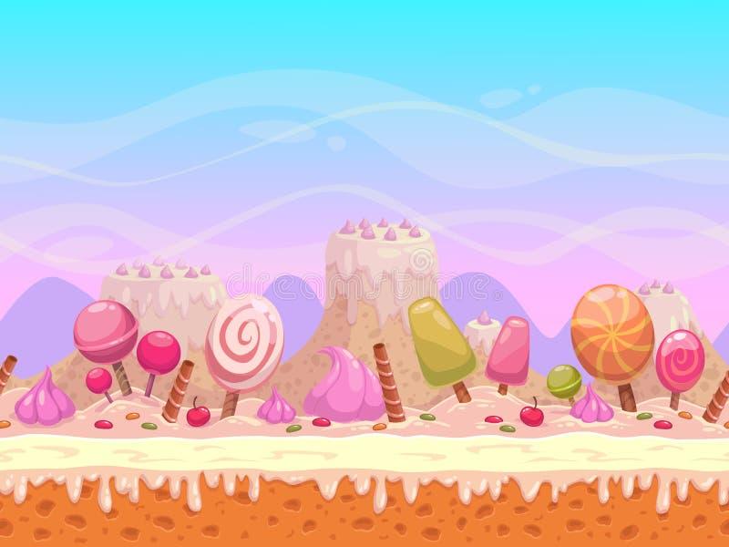 Candyland例证 免版税库存照片