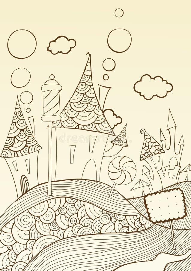 Download Candyland stock vector. Illustration of village, cartoon - 23479815