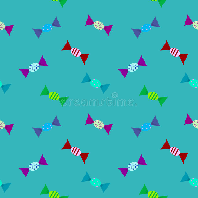 Candys pattern color with. Background vector illustration