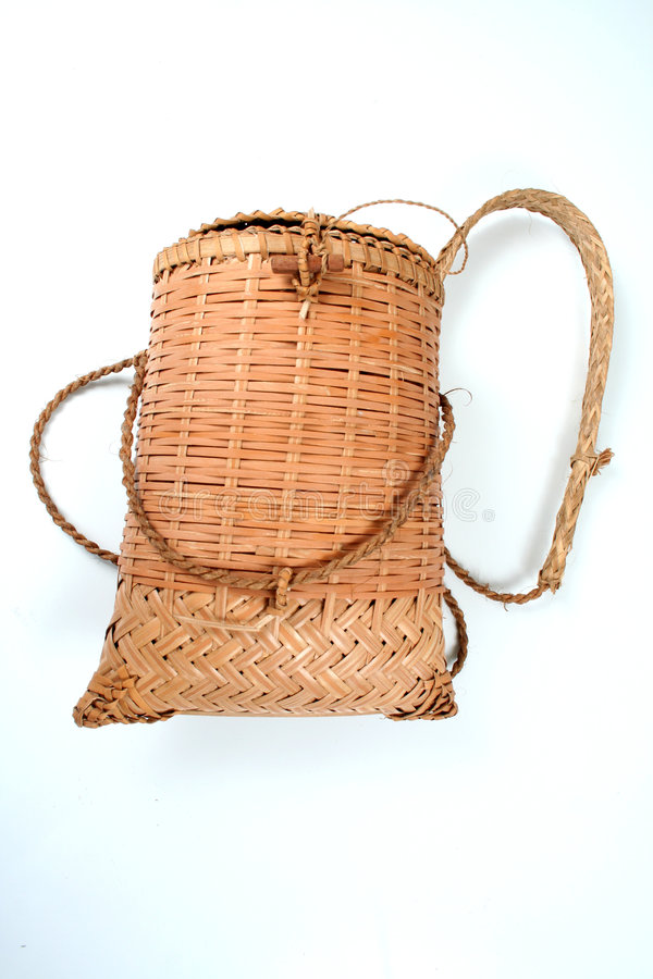 Cane basket royalty free stock images