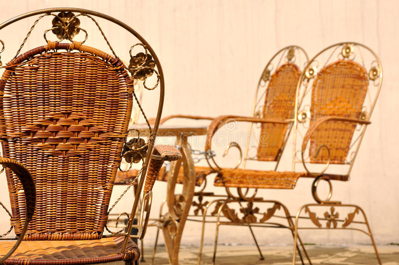 Download Cane Chairs In Leisure Style In Court Stock Image - Image: 22525795
