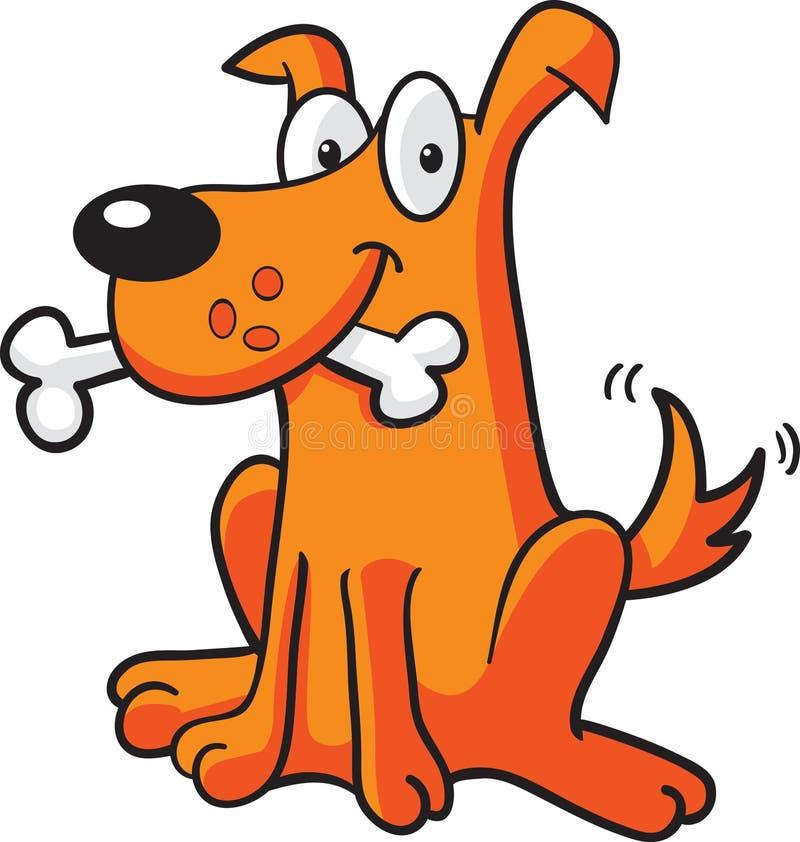 Cane con l'osso illustrazione di stock