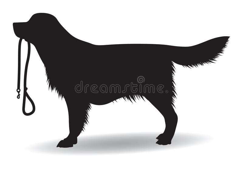 Cane con un cavo illustrazione di stock