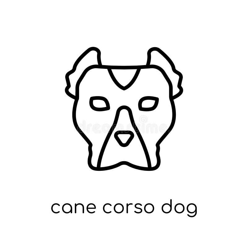 Cane Corso-hondpictogram In modern vlak lineair vectorcane corso vector illustratie