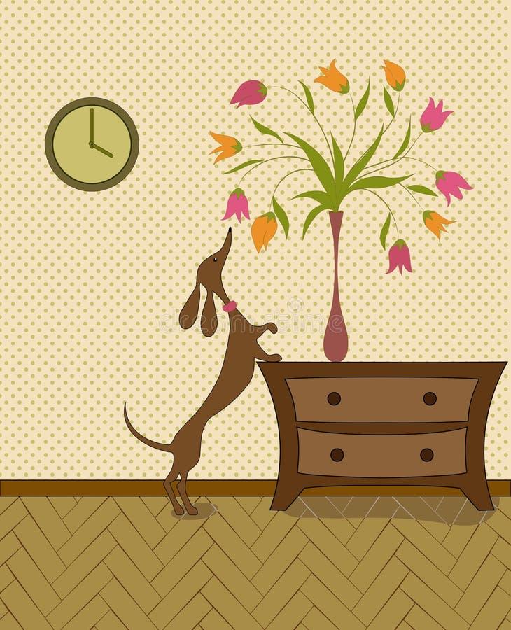 Cane curioso illustrazione di stock