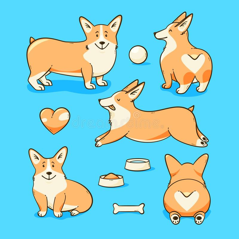 Cane del corgi di Lingua gallese royalty illustrazione gratis
