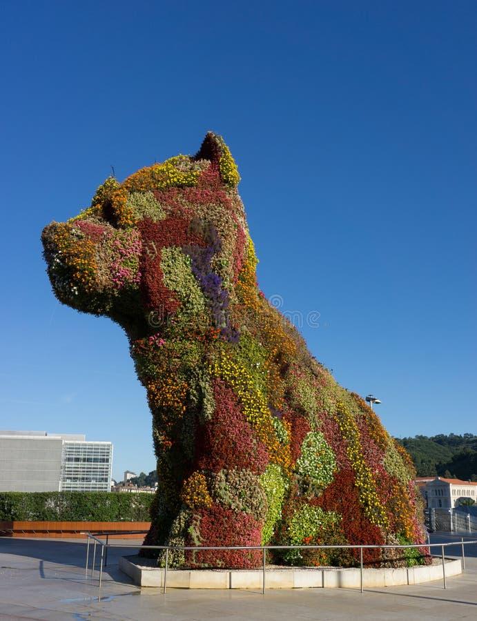 Cane del fiore di Bilbao immagine stock