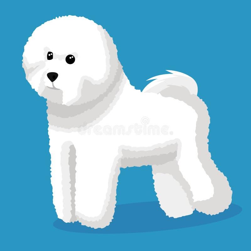 Cane del frise di Bichon illustrazione di stock