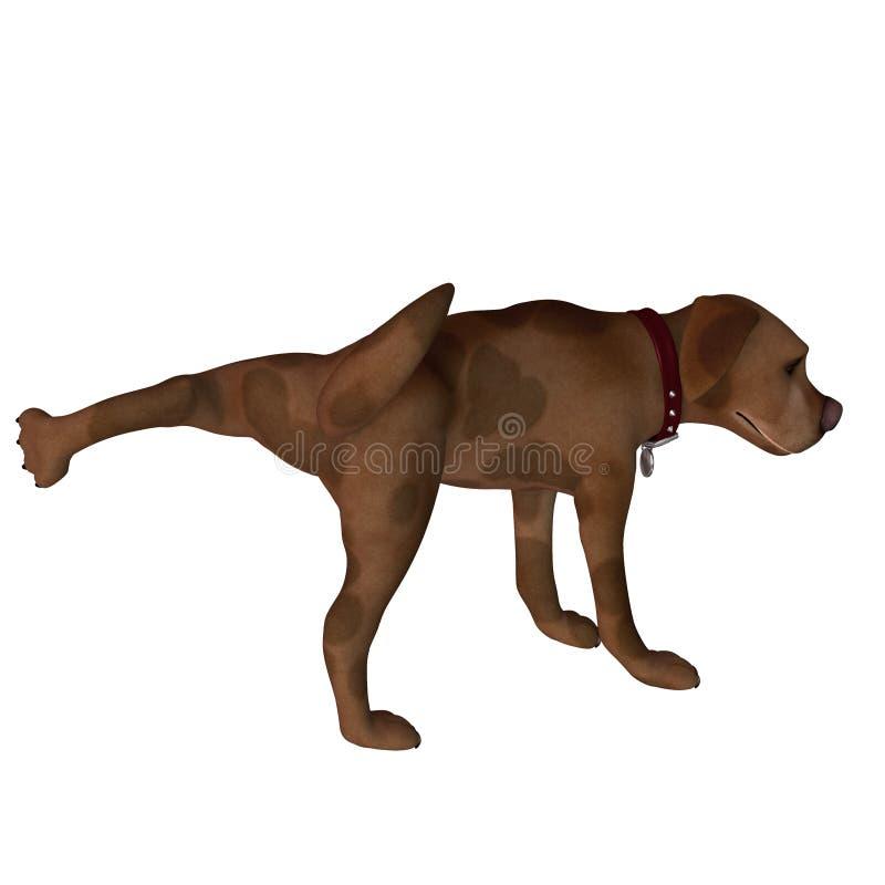Cane del fumetto - elevatore del piedino royalty illustrazione gratis