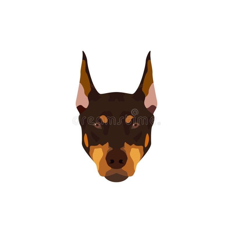 Cane del pinscher del doberman royalty illustrazione gratis