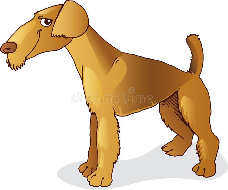 Cane del terrier di Airedale royalty illustrazione gratis