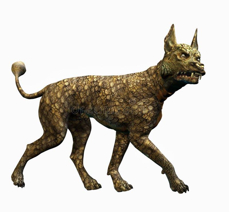 Cane della lucertola - include il percorso di residuo della potatura meccanica illustrazione vettoriale