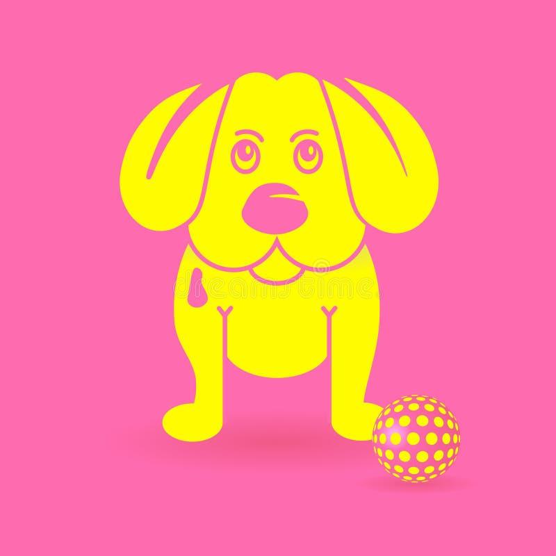 Cane di cucciolo giallo royalty illustrazione gratis