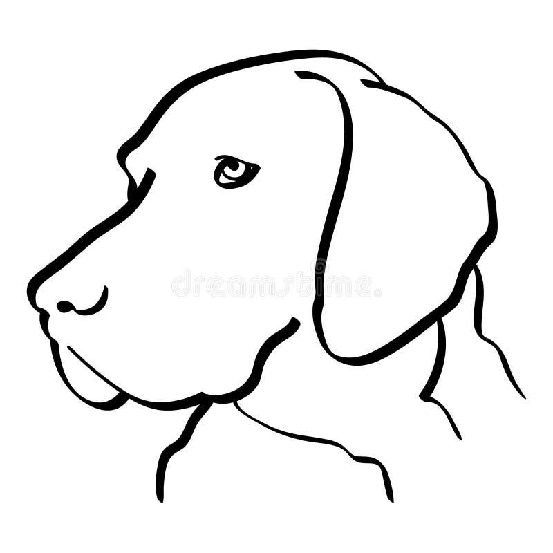 Cane disegnato a mano, vettore, ENV, logo, icona, illustrazione del puntatore della siluetta dai crafteroks per gli usi different illustrazione di stock