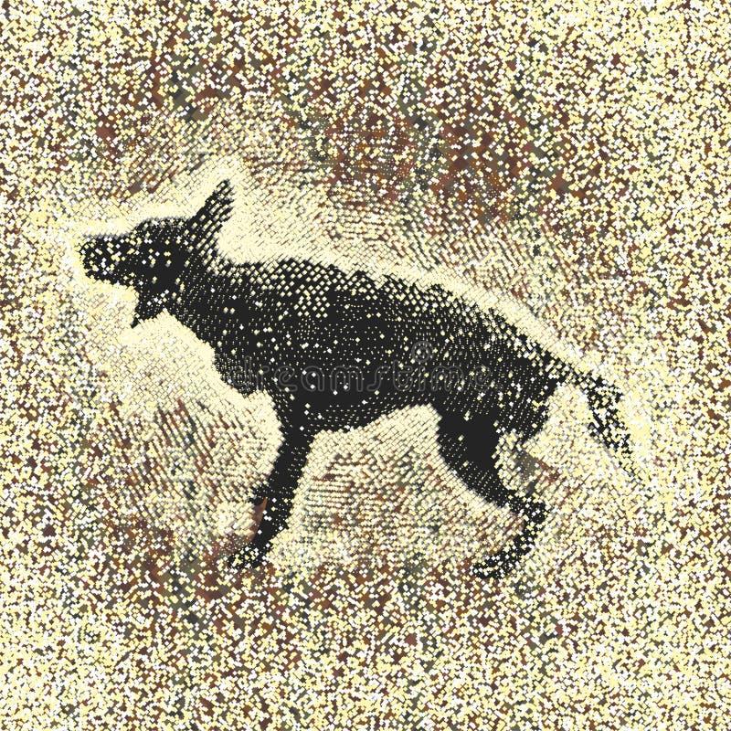 Cane e pioggia dello spruzzo royalty illustrazione gratis