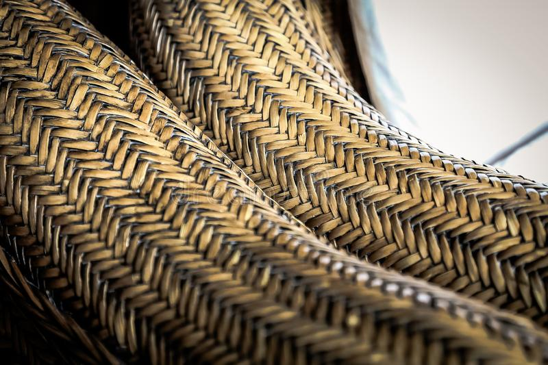 Cane Furniture weave pattern texture for design background royalty free stock photography