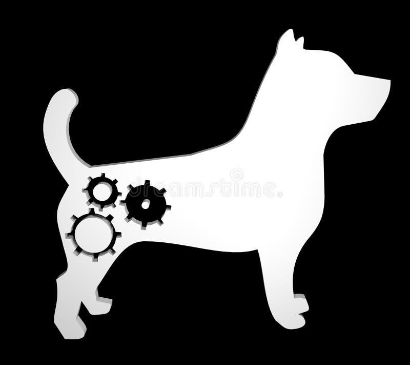 Cane futuristico illustrazione vettoriale