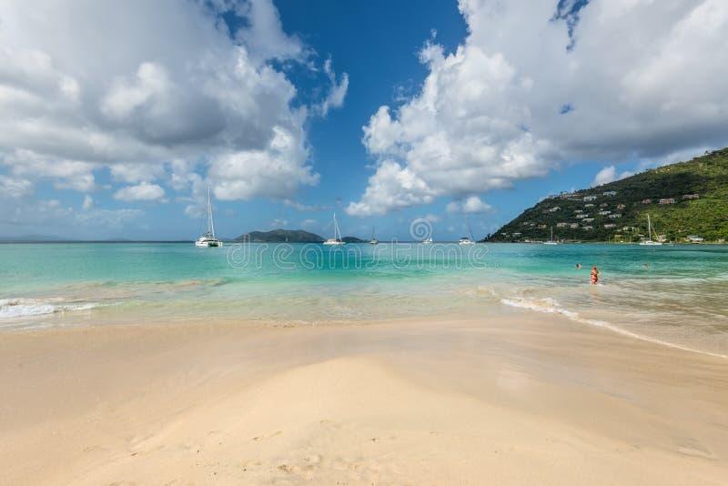 Cane Garden Bay en Tortola, British Virgin Islands, el Caribe fotografía de archivo libre de regalías