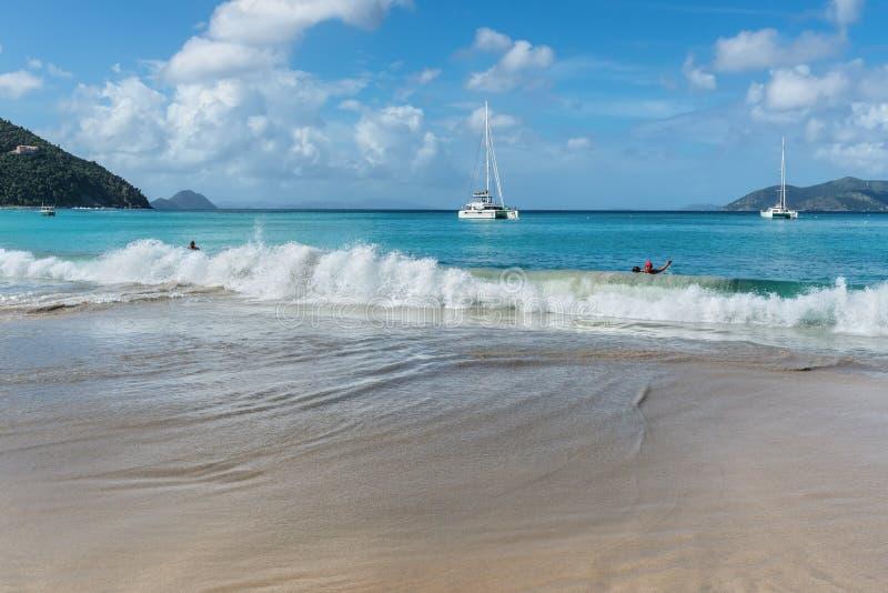 Cane Garden Bay in Tortola, Britische Jungferninseln, Karibische Meere stockfotos