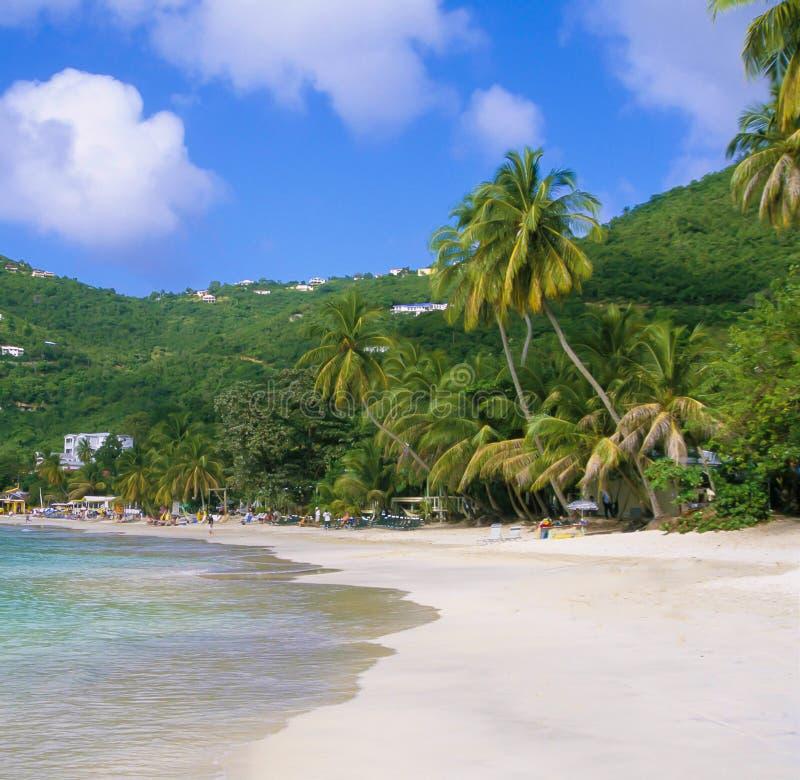Cane Garden Bay Tortola BVI som är karibisk royaltyfri foto