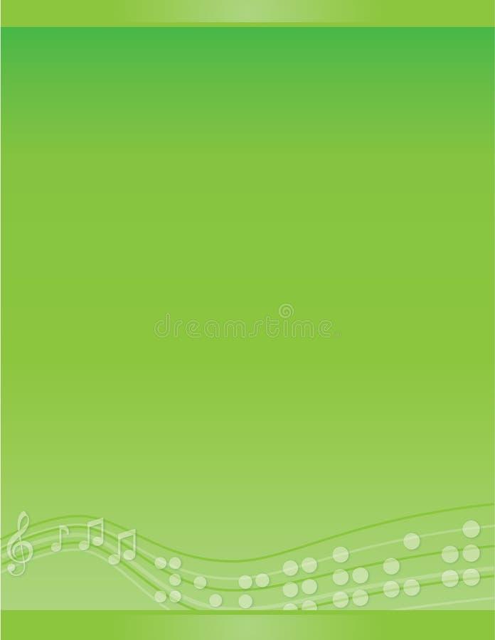Cane Musical Braille Brochure Template branco ilustração do vetor